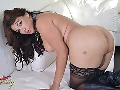 Vaniity gets down and dirty and plays with her big dick and tight ass