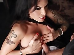 Naughty Foxxy takes a big dick