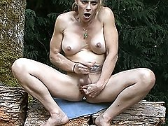 Smoking hot Jasmine Jewels playing with herself in the forest